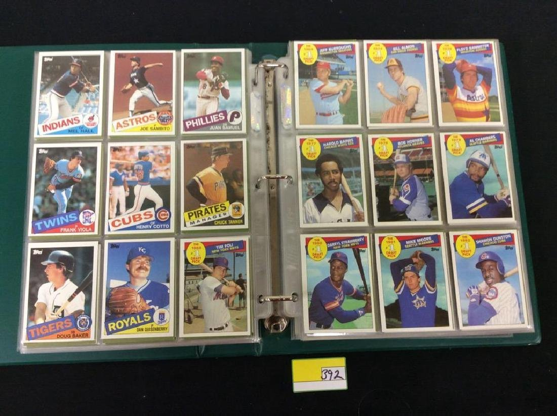 LOT OF OVER 750, 1985 TOPPS BASEBALL CARDS. MANY HALL - 4
