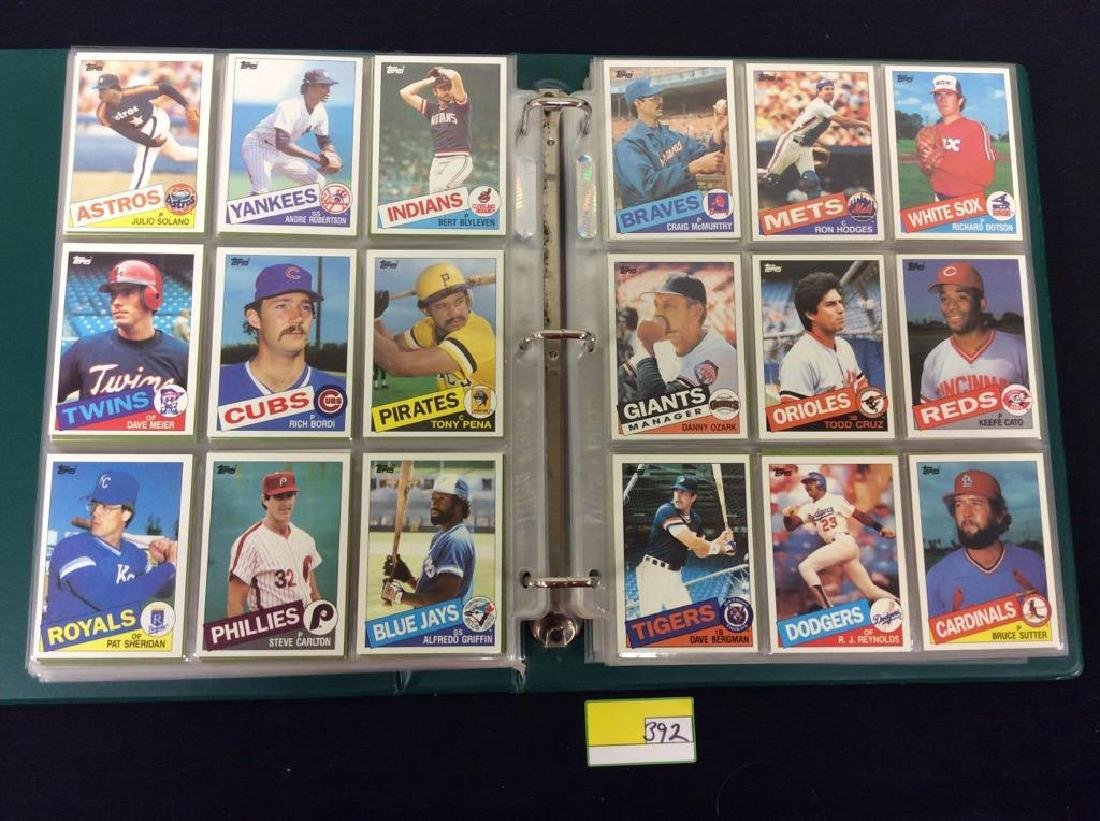 LOT OF OVER 750, 1985 TOPPS BASEBALL CARDS. MANY HALL - 5