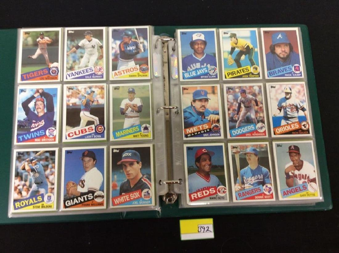 LOT OF OVER 750, 1985 TOPPS BASEBALL CARDS. MANY HALL - 6