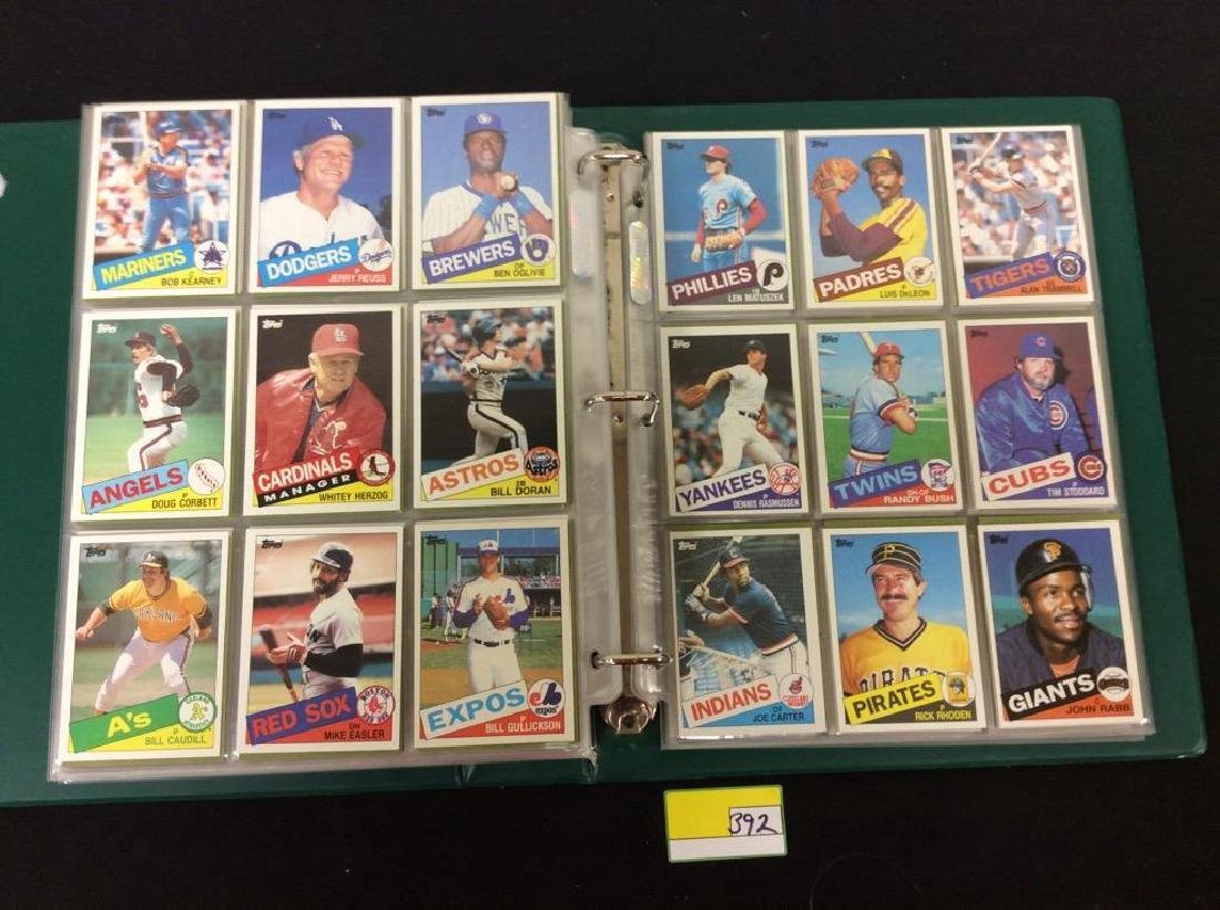 LOT OF OVER 750, 1985 TOPPS BASEBALL CARDS. MANY HALL - 8