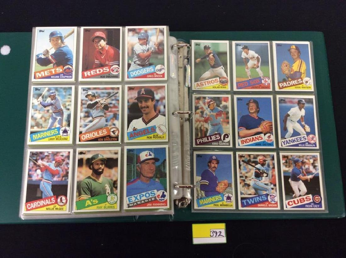 LOT OF OVER 750, 1985 TOPPS BASEBALL CARDS. MANY HALL - 9