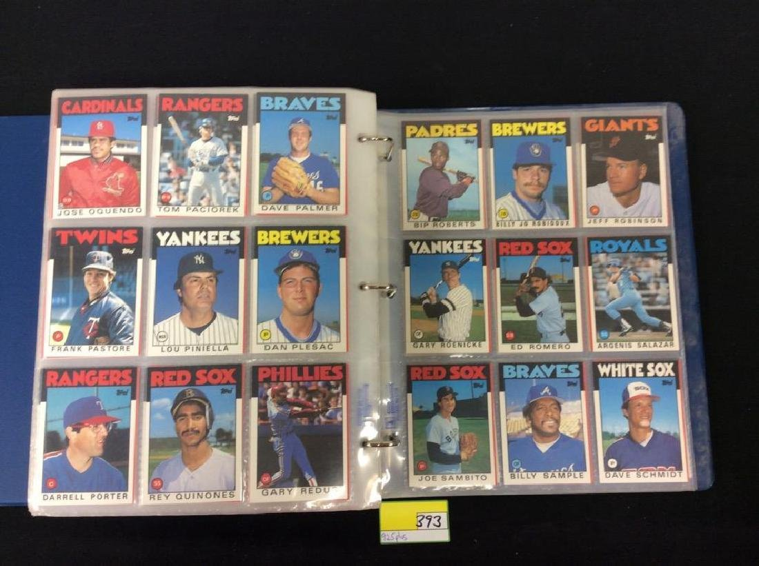 LOT OF OVER 925, 1986 TOPPS BASEBALL CARDS. MANY HALL - 10