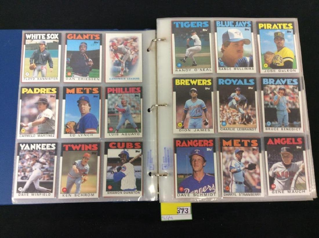 LOT OF OVER 925, 1986 TOPPS BASEBALL CARDS. MANY HALL - 3
