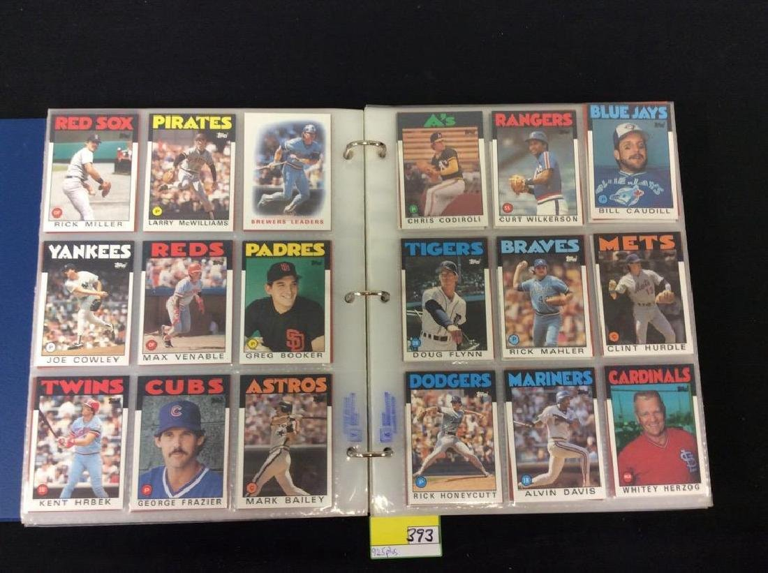 LOT OF OVER 925, 1986 TOPPS BASEBALL CARDS. MANY HALL - 6