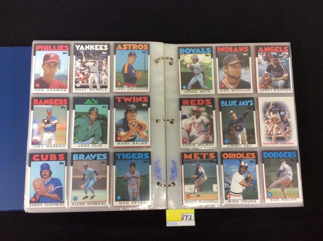 LOT OF OVER 925, 1986 TOPPS BASEBALL CARDS. MANY HALL - 7