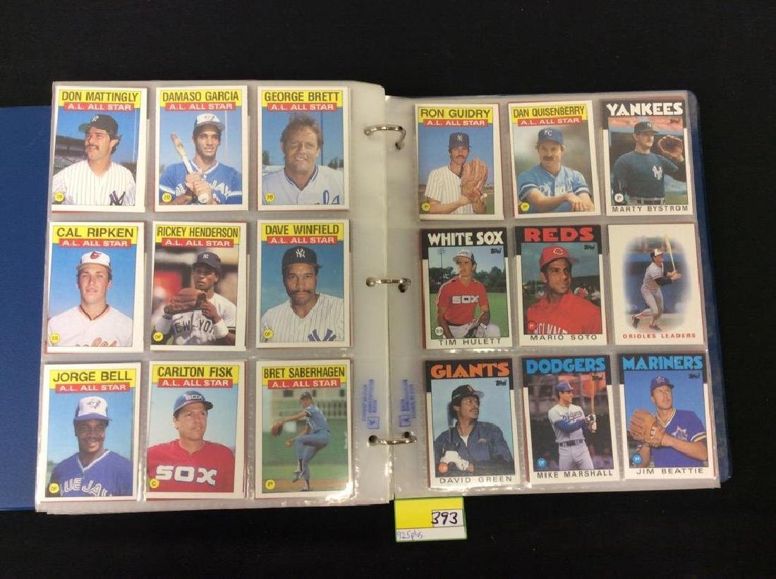 LOT OF OVER 925, 1986 TOPPS BASEBALL CARDS. MANY HALL - 8