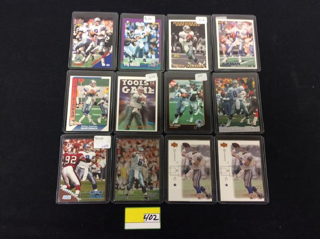 LOT OF 42 MIXED FOOTBALL TRADING CARDS. ALL TROY
