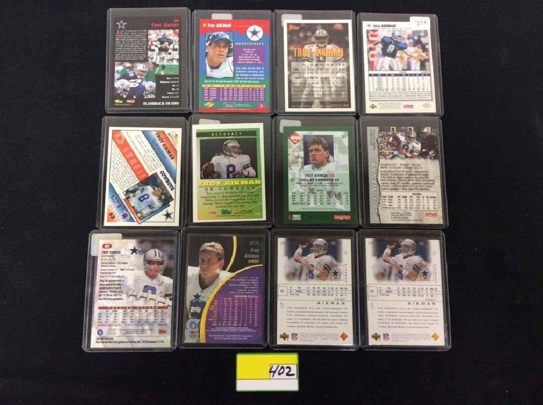 LOT OF 42 MIXED FOOTBALL TRADING CARDS. ALL TROY - 2