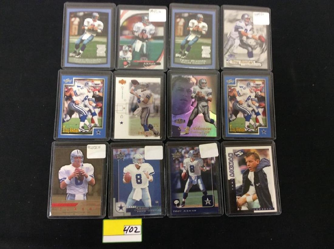 LOT OF 42 MIXED FOOTBALL TRADING CARDS. ALL TROY - 3