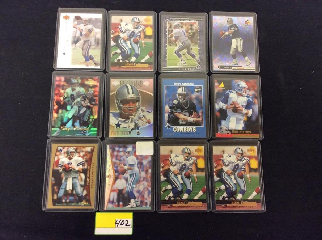 LOT OF 42 MIXED FOOTBALL TRADING CARDS. ALL TROY - 4