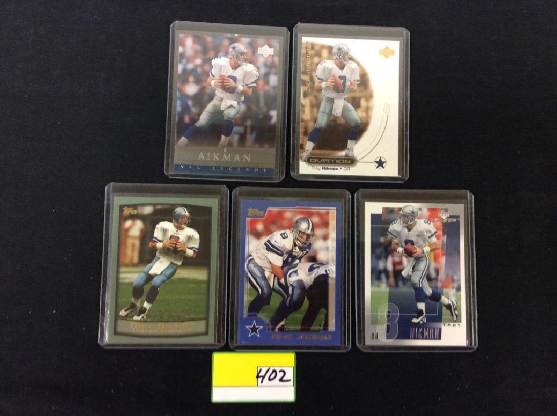 LOT OF 42 MIXED FOOTBALL TRADING CARDS. ALL TROY - 6