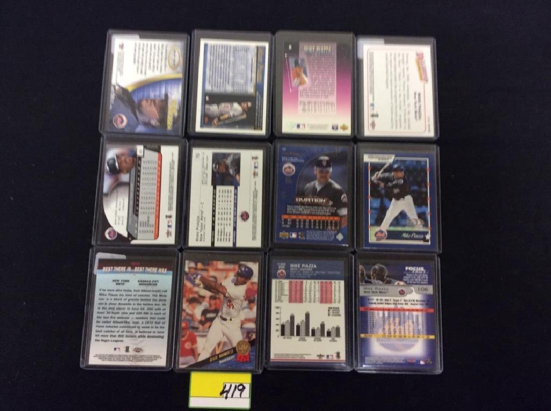 "LOT OF 71 ""MIKE PIAZZA"" BASEBALL TRADING CARDS. HOF - 2"