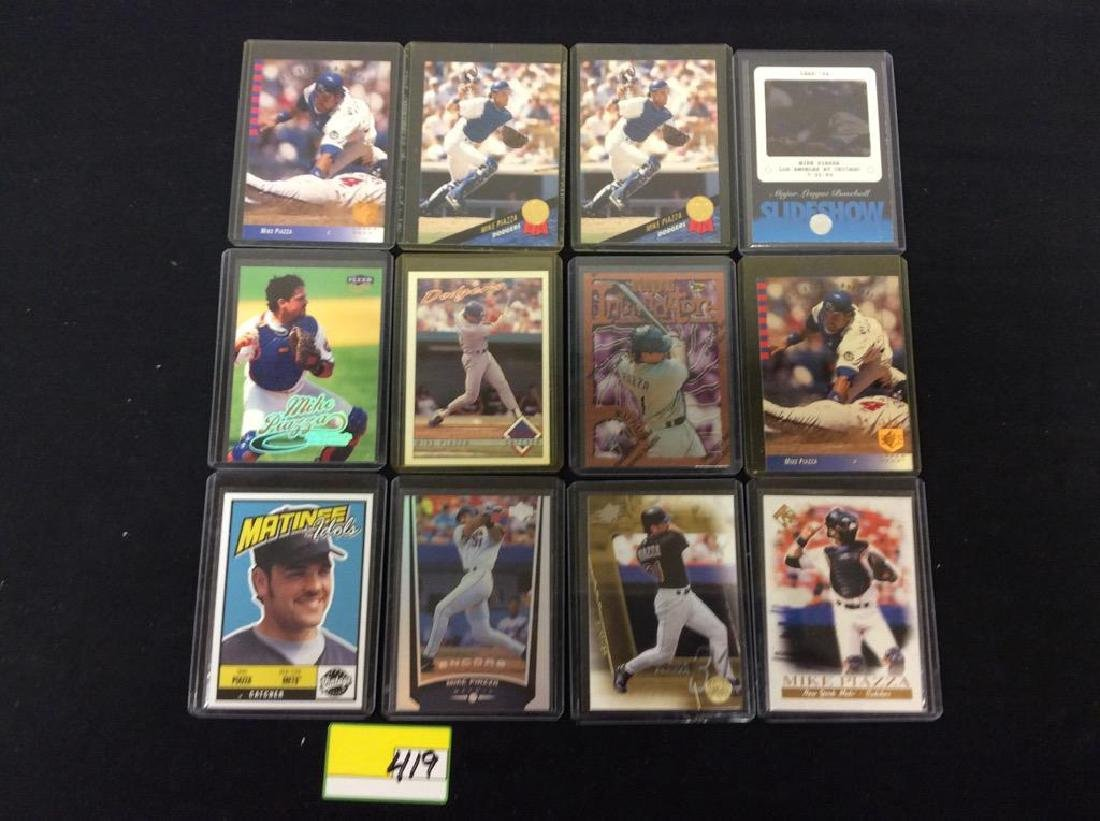 "LOT OF 71 ""MIKE PIAZZA"" BASEBALL TRADING CARDS. HOF - 4"