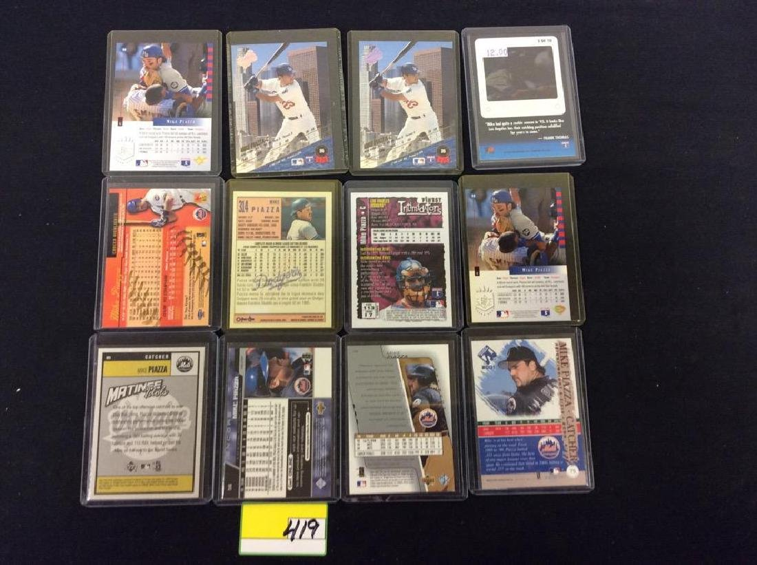 "LOT OF 71 ""MIKE PIAZZA"" BASEBALL TRADING CARDS. HOF - 5"