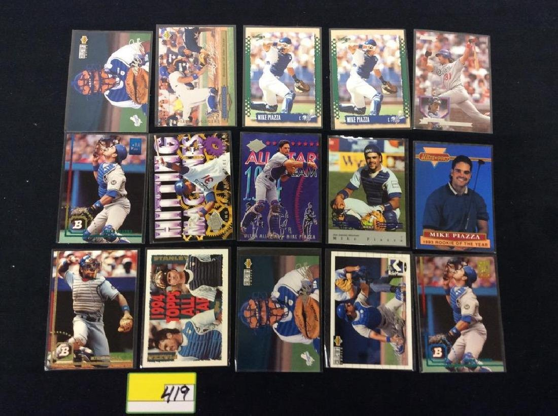"LOT OF 71 ""MIKE PIAZZA"" BASEBALL TRADING CARDS. HOF - 7"