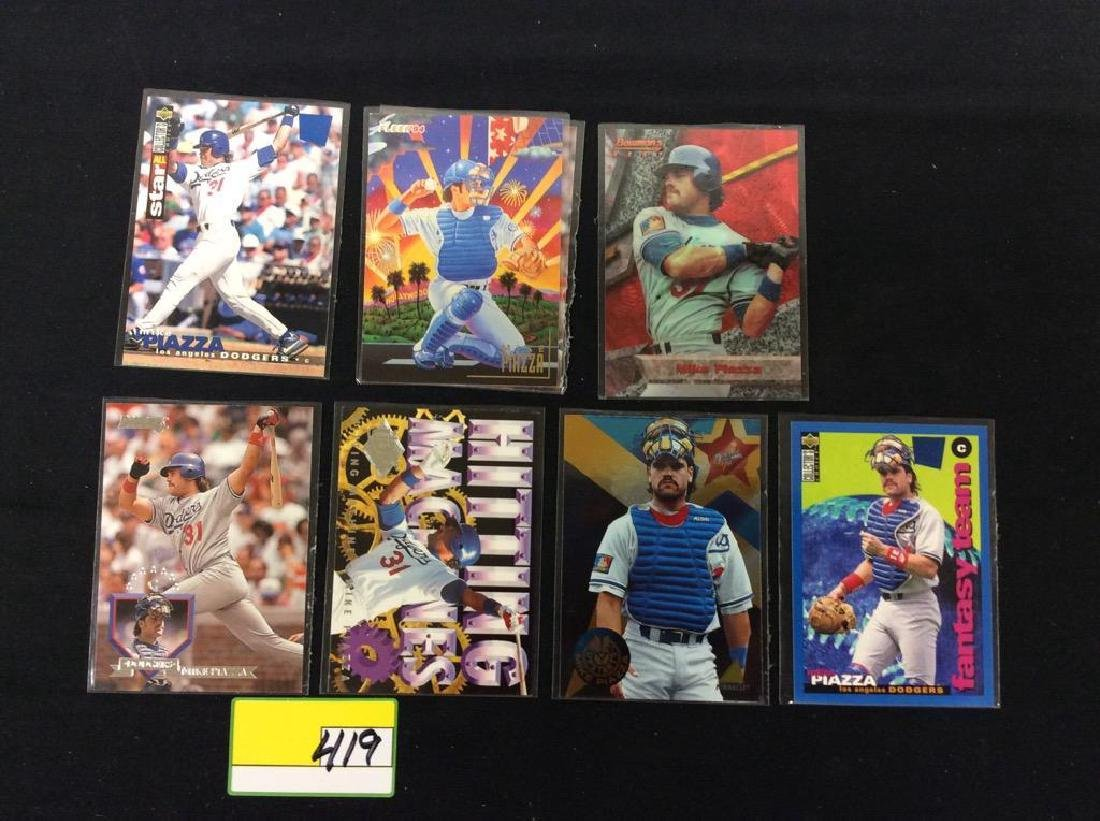 "LOT OF 71 ""MIKE PIAZZA"" BASEBALL TRADING CARDS. HOF - 8"