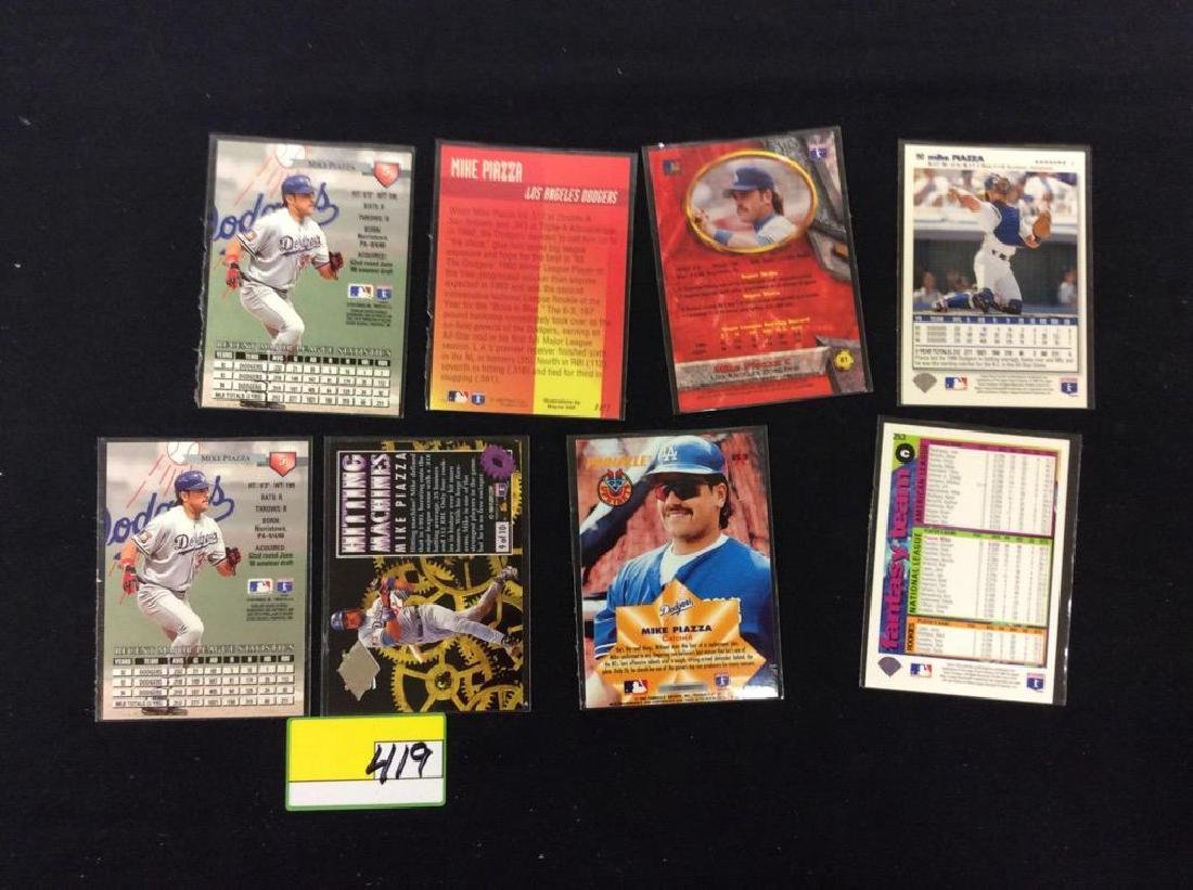 "LOT OF 71 ""MIKE PIAZZA"" BASEBALL TRADING CARDS. HOF - 9"