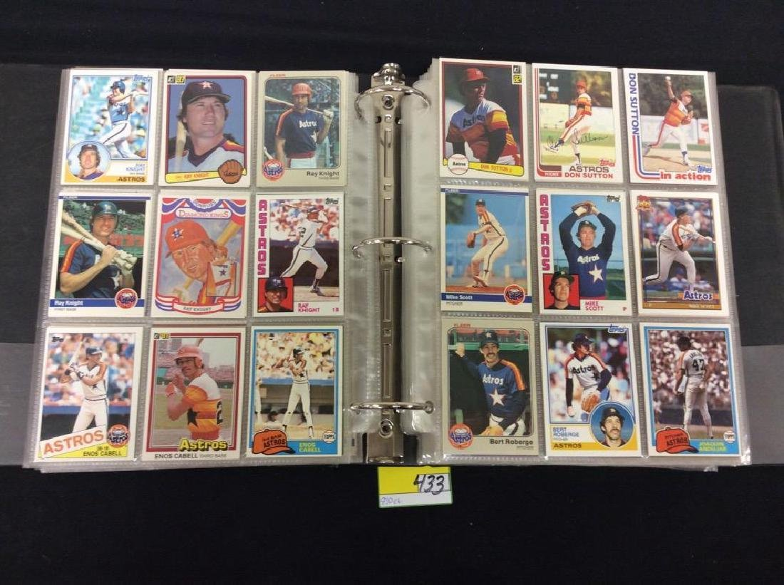 LOT OF 810 TOPPS BASEBALL CARDS. ASTROS,ROYALS AND THE - 2