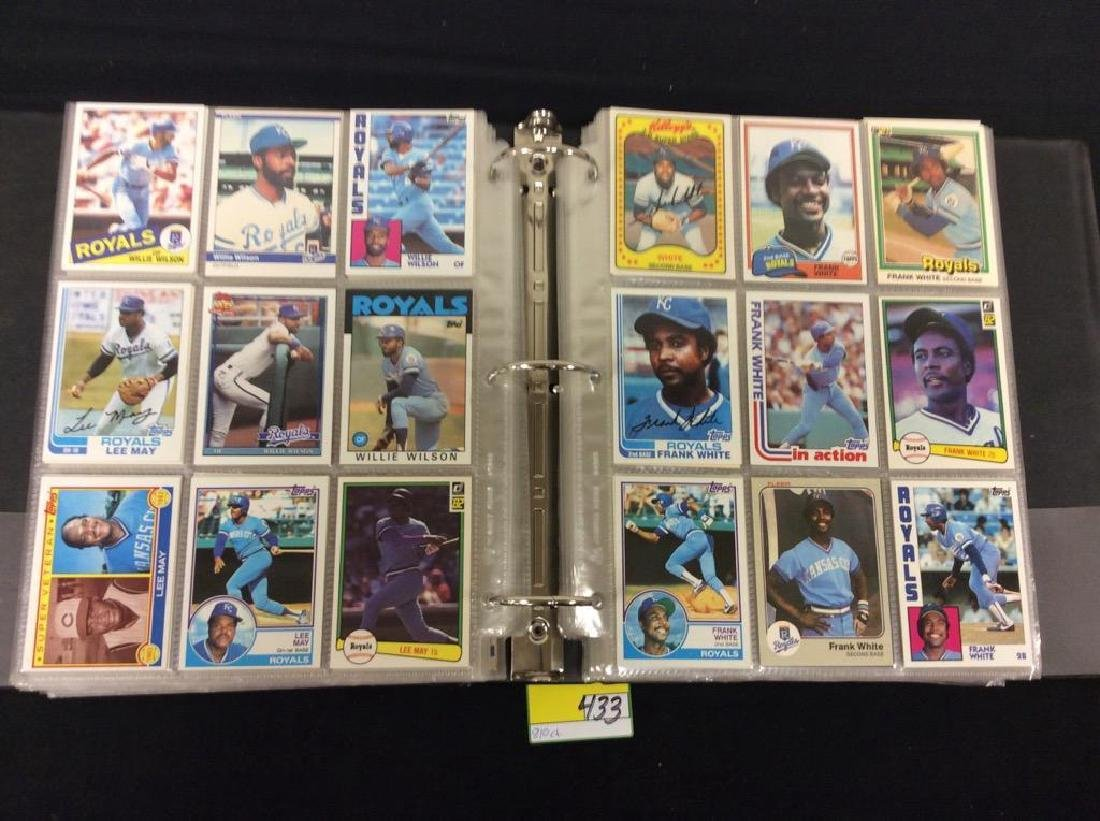 LOT OF 810 TOPPS BASEBALL CARDS. ASTROS,ROYALS AND THE - 3