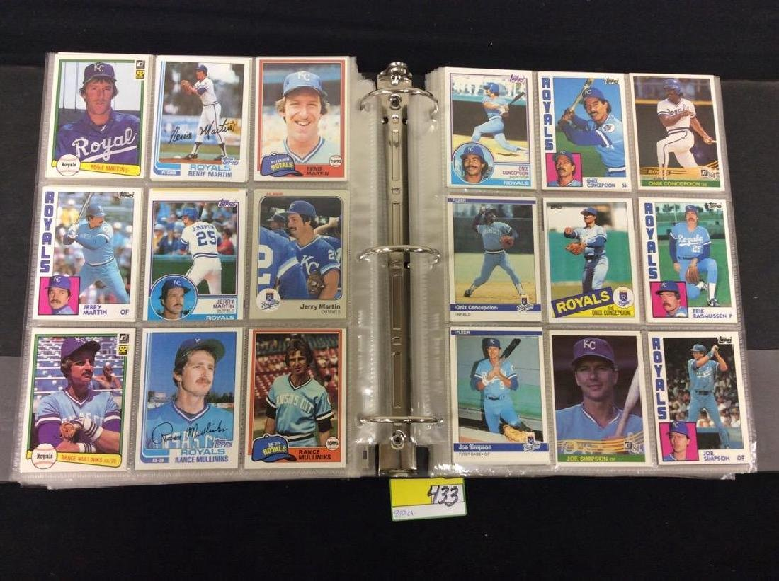 LOT OF 810 TOPPS BASEBALL CARDS. ASTROS,ROYALS AND THE - 4