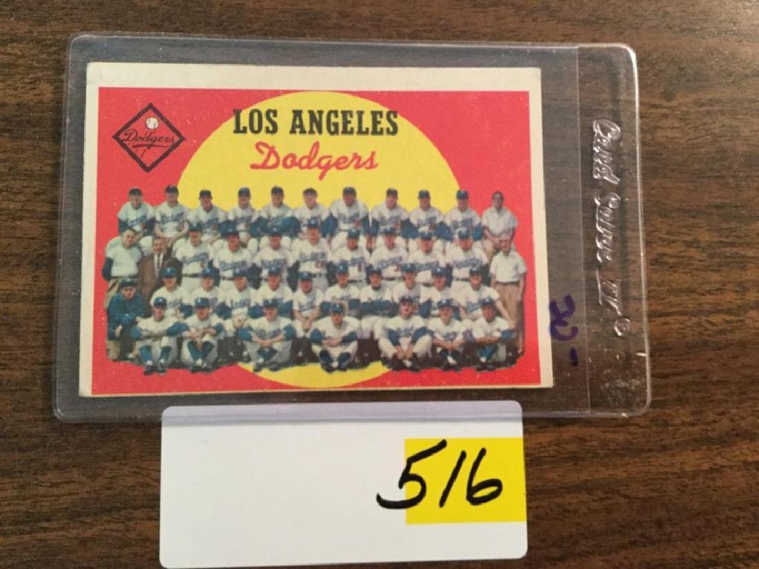 1959 TOPPS DODGERS TEAM CARD