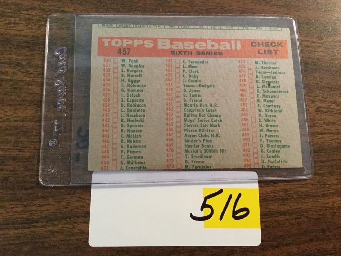 1959 TOPPS DODGERS TEAM CARD - 2