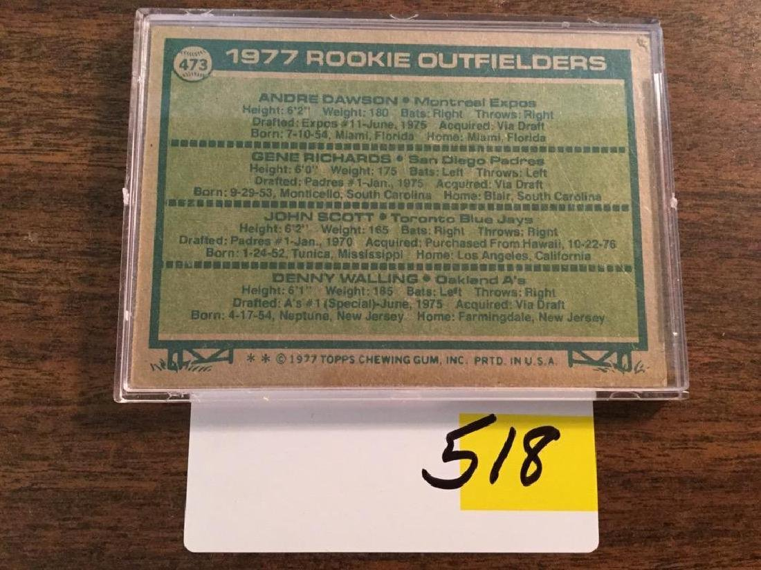 1977 TOPPS ANDRE DAWSON RC ROOKIE - 2
