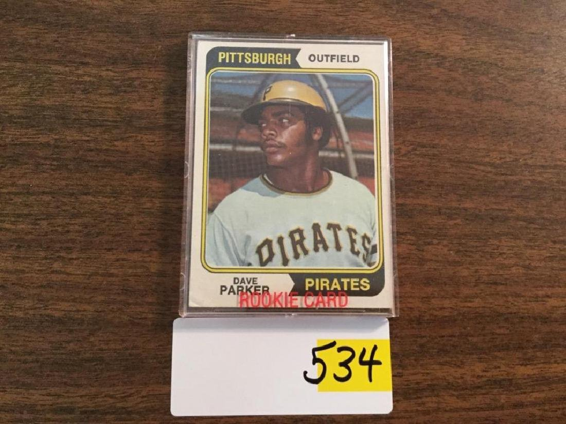 1974 TOPPS DAVE PARKER RC ROOKIE