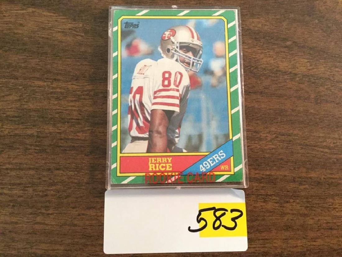1986 TOPPS JERRY RICE RC ROOKIE