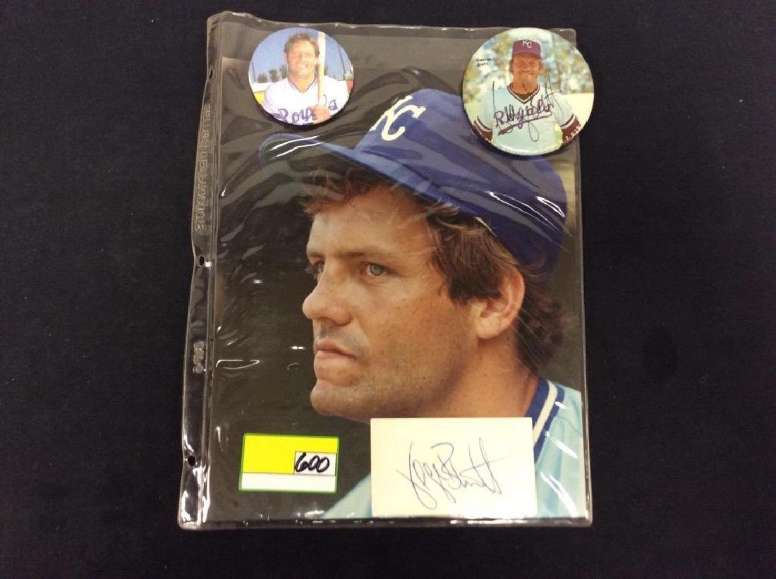 INCREDIBLE BONANZA OF GEORGE BRETT AUTOGRAPHS. BUTTONS