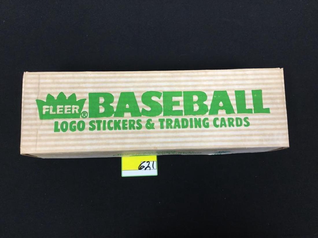 1988 FLEER BASEBALL LOGO STICKERS & TRADING CARDS.