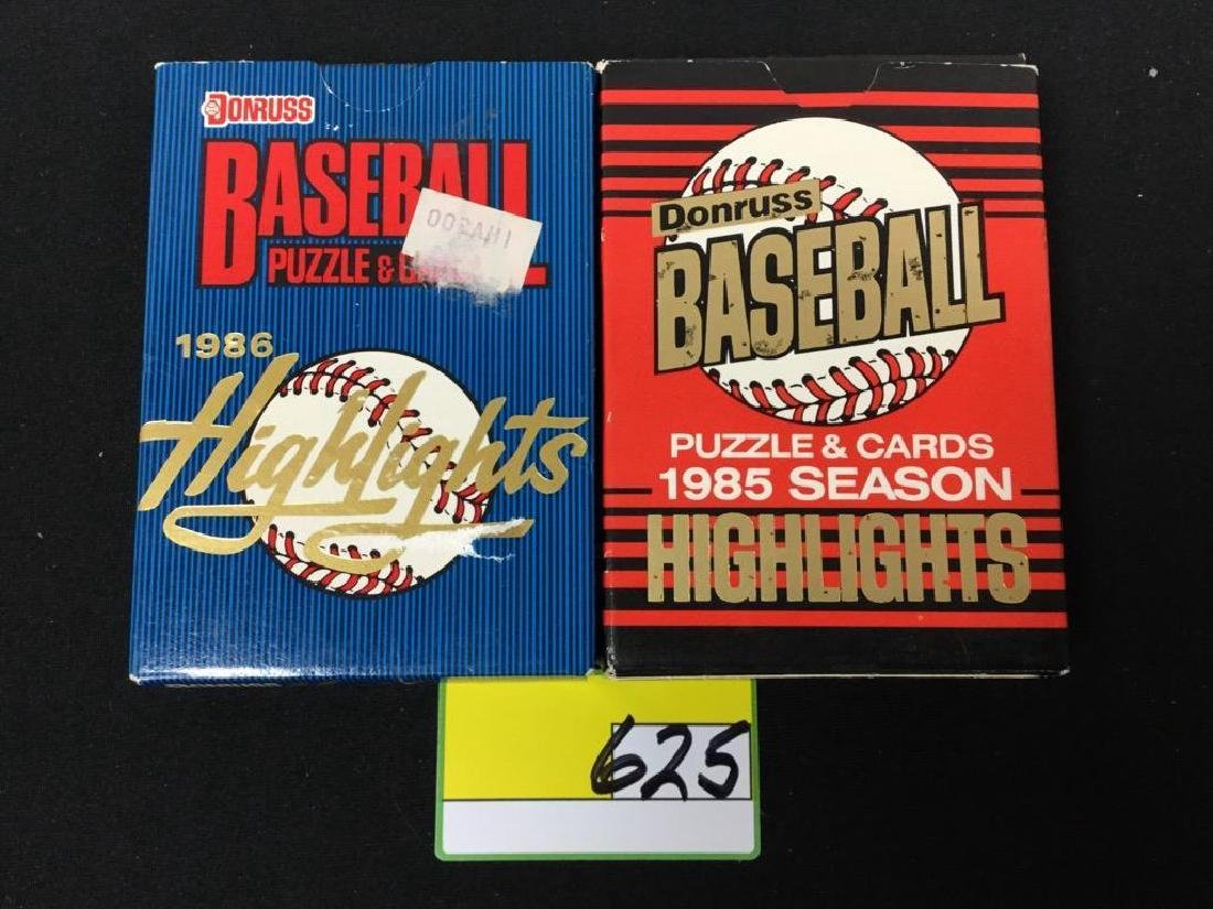 1985 And 1986 Donruss Baseball Cards And Puzzle Pieces