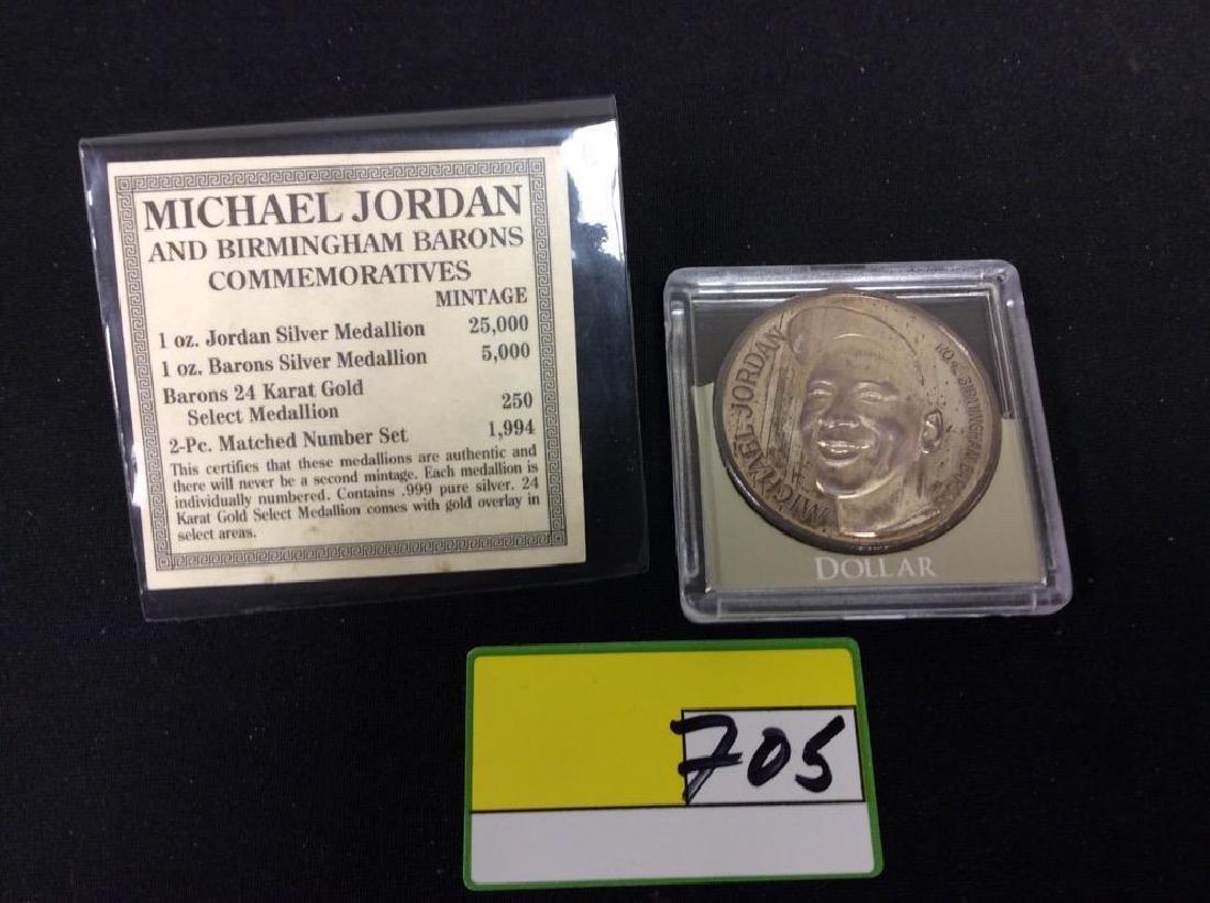 1 Oz. SILVER MICHAEL JORDAN AS A BIRMINGHAM BARONS - 2