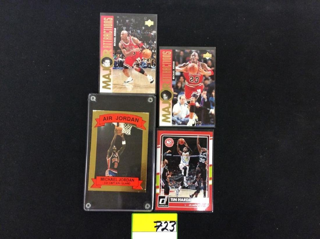 4 COUNT. MIX OF UPPER DECK NBA CARDS.