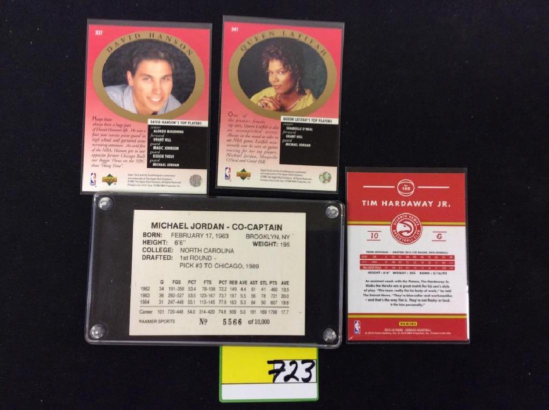 4 COUNT. MIX OF UPPER DECK NBA CARDS. - 2
