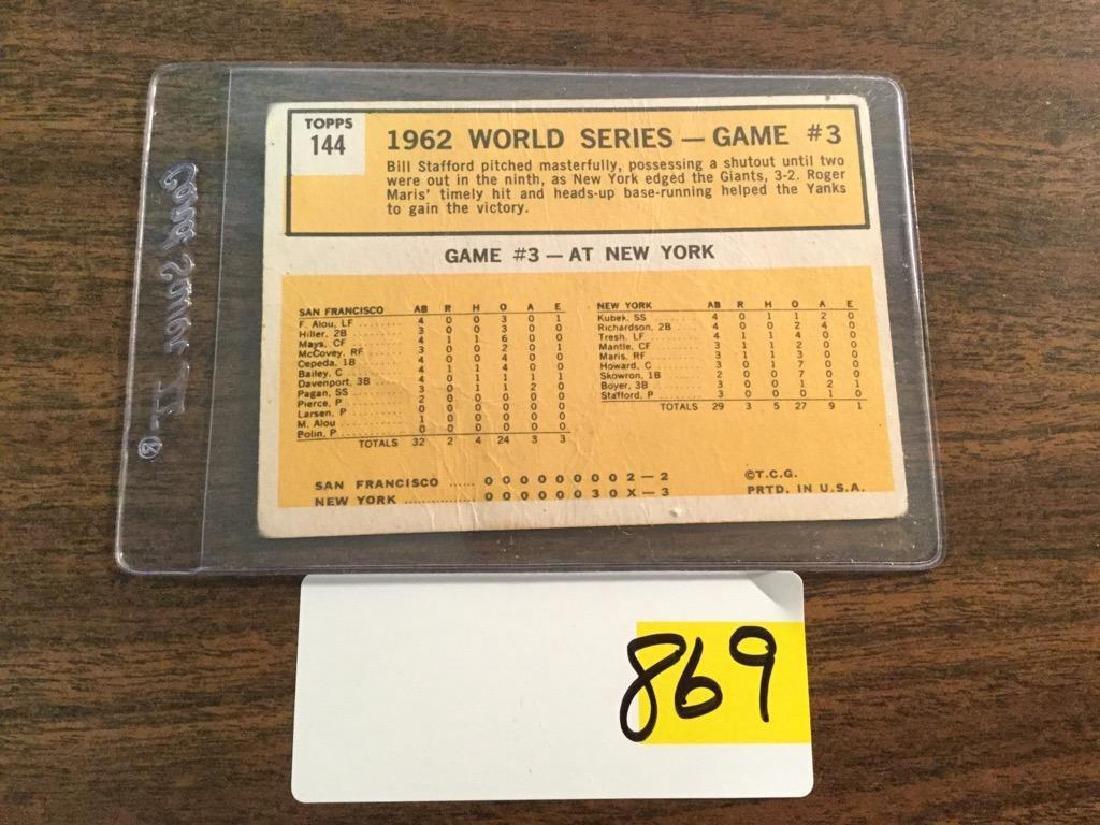 1963 TOPPS ROGER MARIS WORLD SERIES - 2