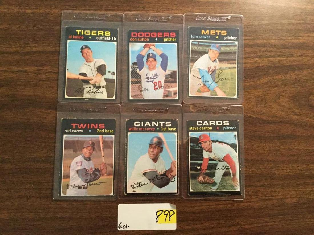 1971 TOPPS VINTAGE LOT OF 6.