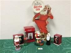 (8) Coca-Cola Santa Claus Collectible Decor and