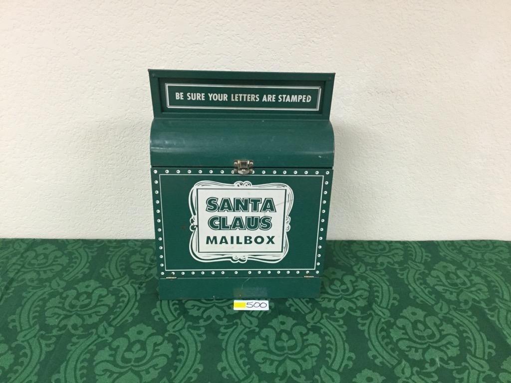 Vintage Santa Claus Mailbox circa 1940's WWII Era