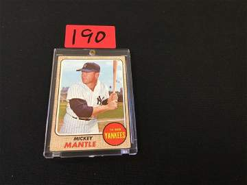 """1968 Topps The Iconic """"MICKEY MANTLE"""""""