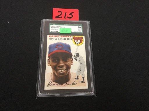 1954 Topps 94 Ernie Banks Rookie Card Sgc Ex55