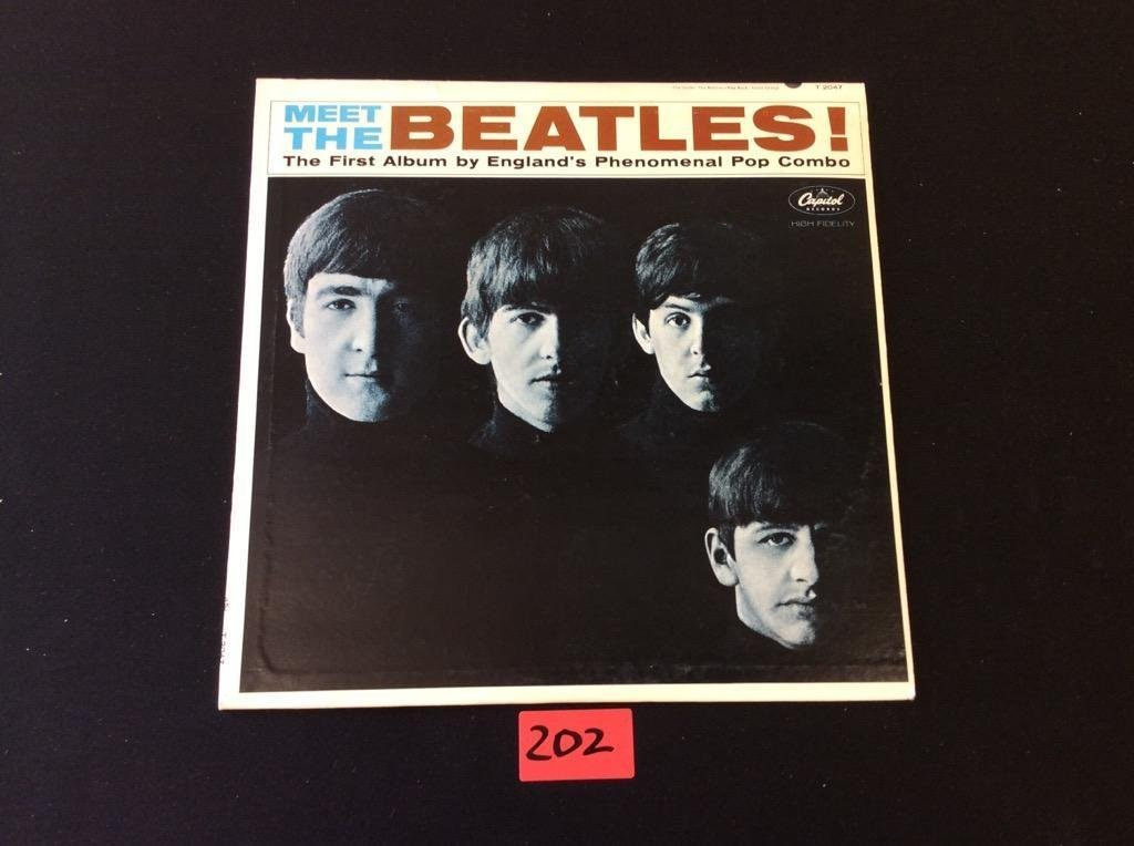 "MEET THE BEATLES Capital LP T-2047 Mono ""12 Record THE"