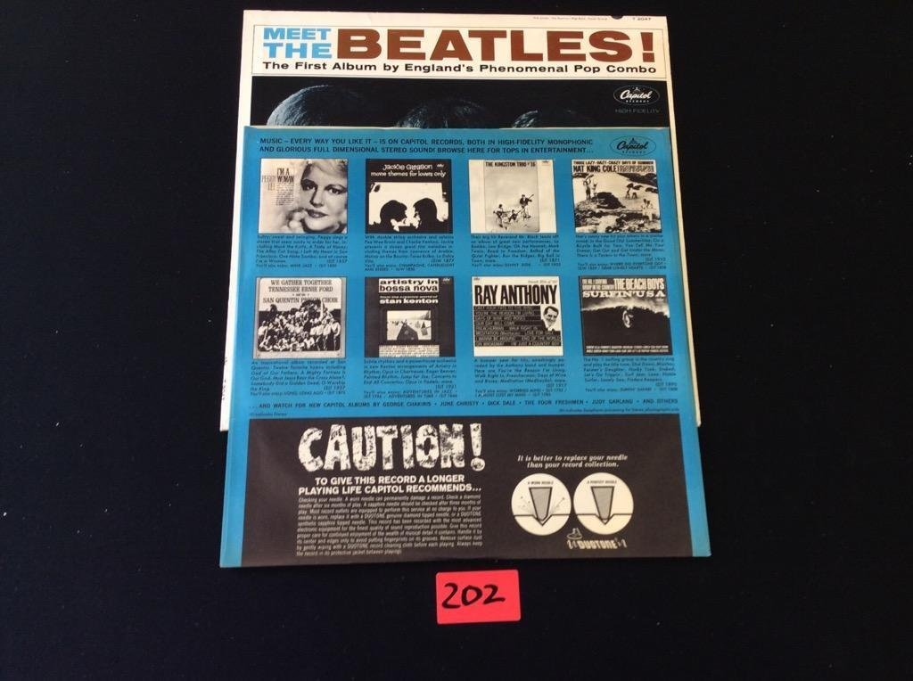 "MEET THE BEATLES Capital LP T-2047 Mono ""12 Record THE - 2"