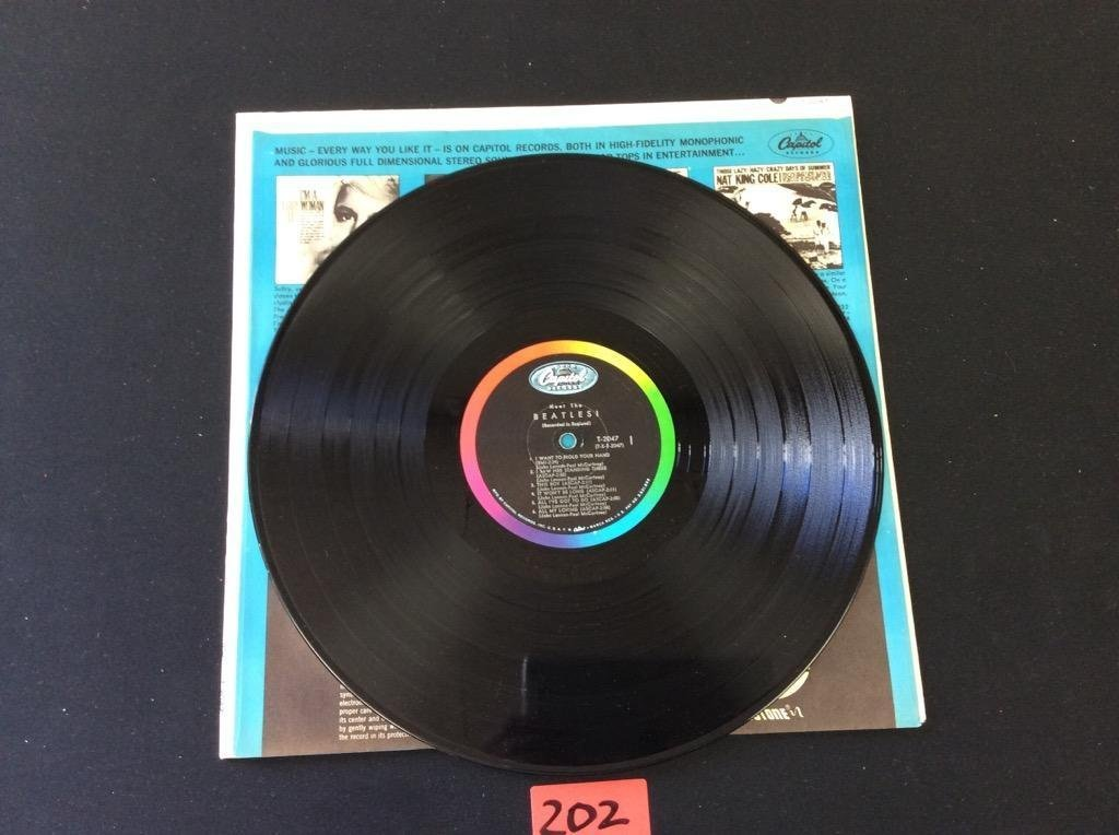 "MEET THE BEATLES Capital LP T-2047 Mono ""12 Record THE - 3"