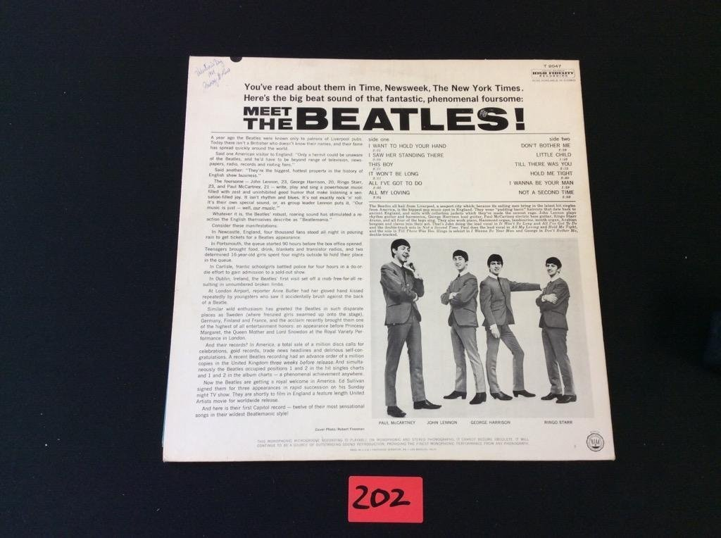 "MEET THE BEATLES Capital LP T-2047 Mono ""12 Record THE - 4"
