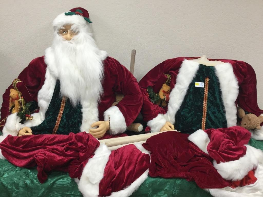 Extra Large Santa with Interchangeable Bodies and Stand