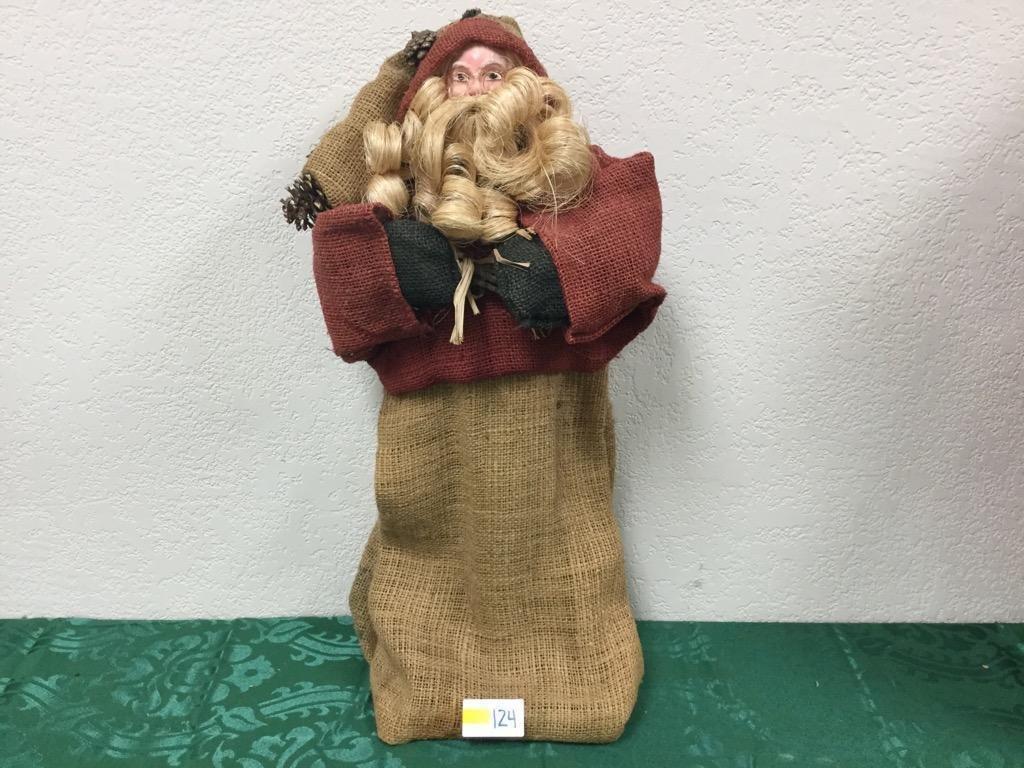 2' Rustic Santa with Burlap Robes