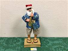 "14"" Animated Musical Saxophone Playing Santa - Working"