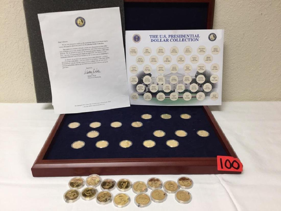 The U.S. Presidential Dollar Collection in a