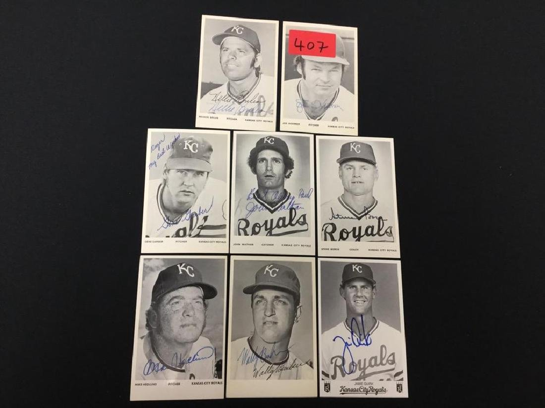 Mixed Hand Signed Autographed Kansas City Royals. All